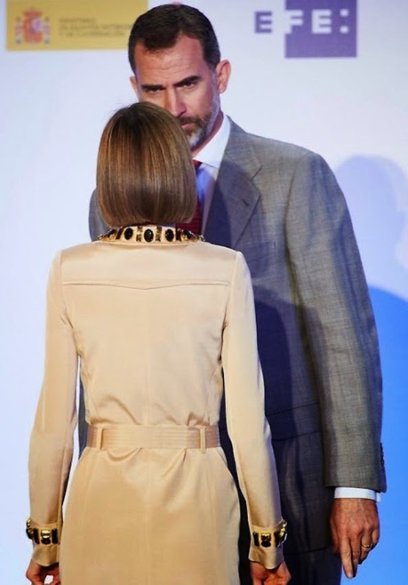 Queen Letizia And King Felipe Attends Journalism Awards Ceremony