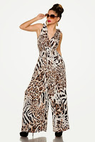 Salopeta moderna, cu animal print ( )