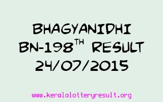 BHAGYANIDHI BN 198 Lottery Result 24-7-2015