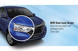 New Head Lamp Design grand new avanza