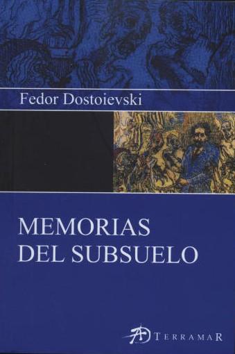 Portada del libro Memorias del subsuelo de dostoievski
