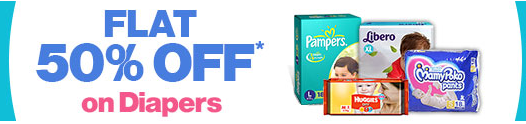 Firstcry : Diapers 50% off on Rs. 300