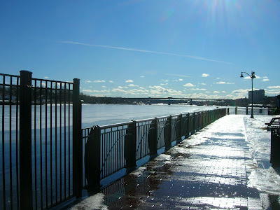 Bangor waterfront in winter