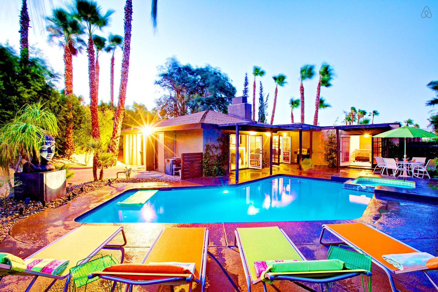 Do rent a fab house in palm springs via airbnb where you and your closest gal pals can get cozy and lounge by the pool all weekend