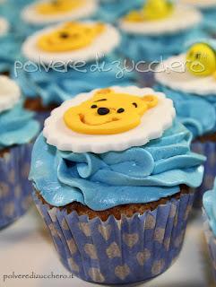 polvere di zucchero torte battesimo cupcakes baby shower pasta di zucchero cake design winnie the pooh