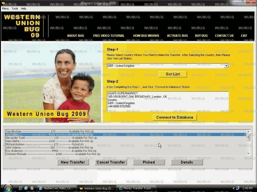 Western Union Database Hacker 2012 Fully Cracked