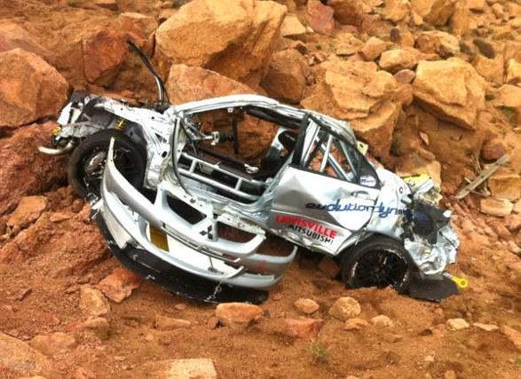 Impresionante accidente en Pikes Peak
