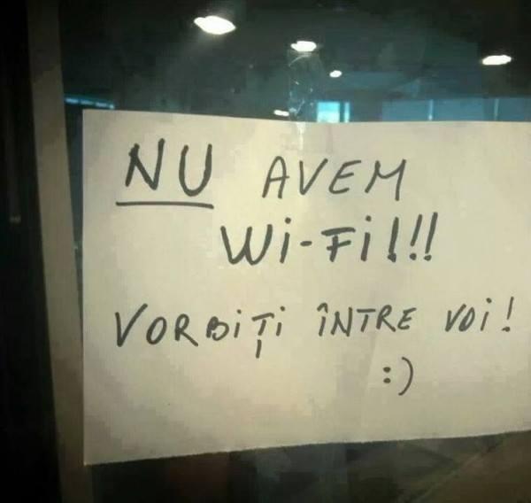 nu avem wifi