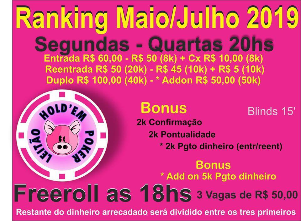 FREEROLL / RANKING MAIO/JULHO