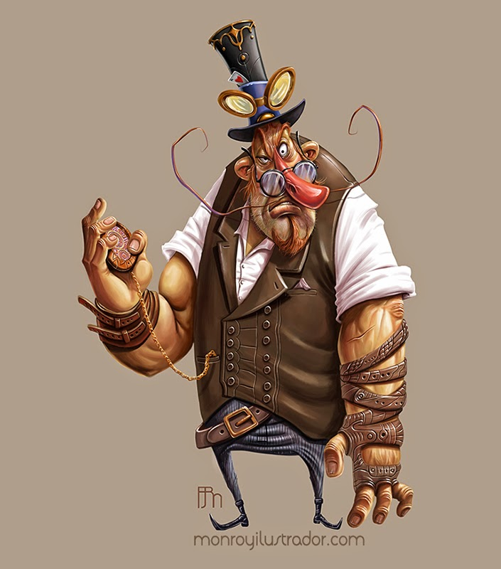 Cartoon STEAMPUNK (Step 3)