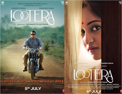 Sonakshi Sinha as bengali girl look in her upcoming movie lootera poster
