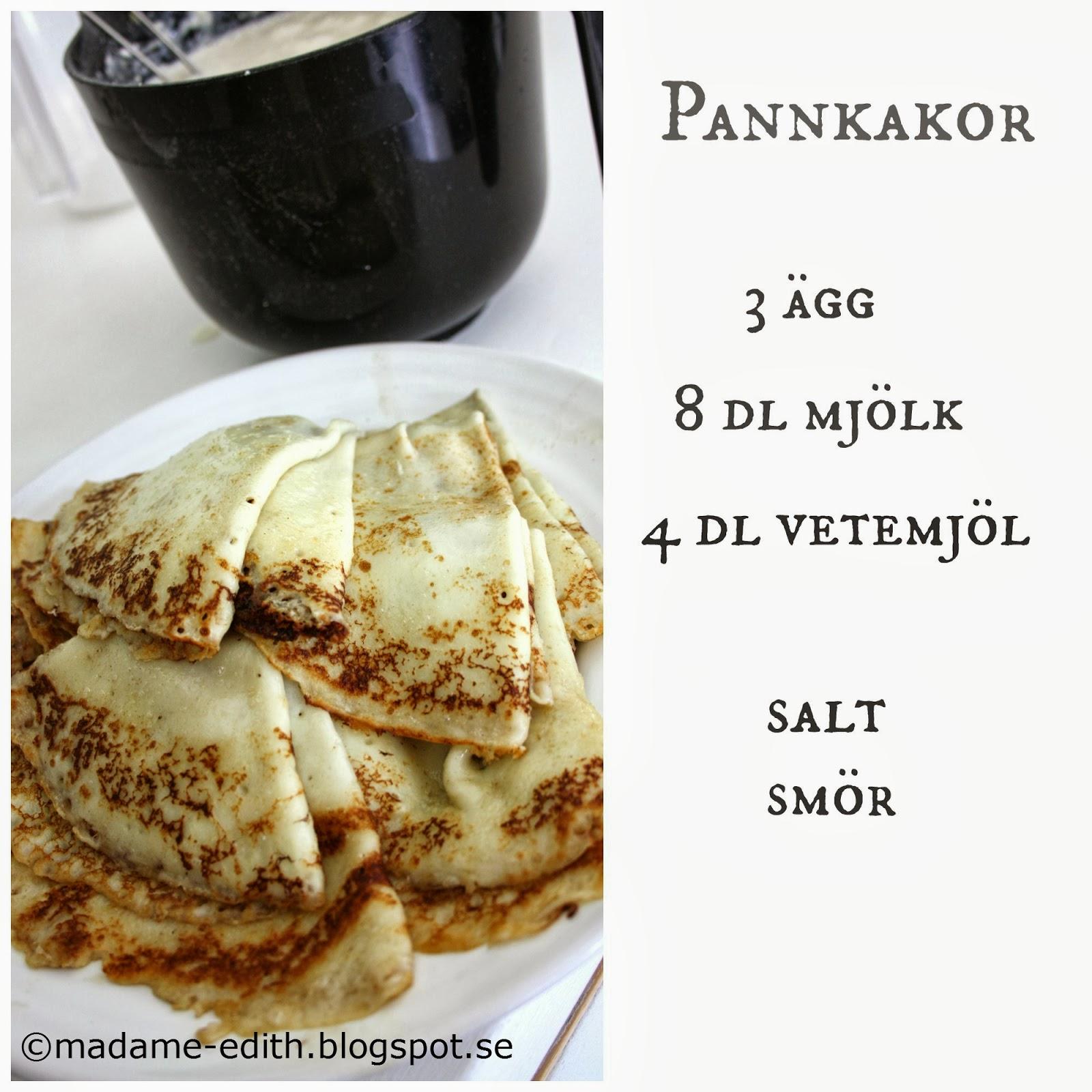 Grundrecept på pannkakor