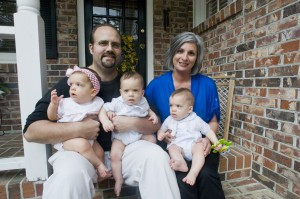 Parents of triplets thankful for their survival.Photo Credit: CHRISTOPHER HUFF/T&D