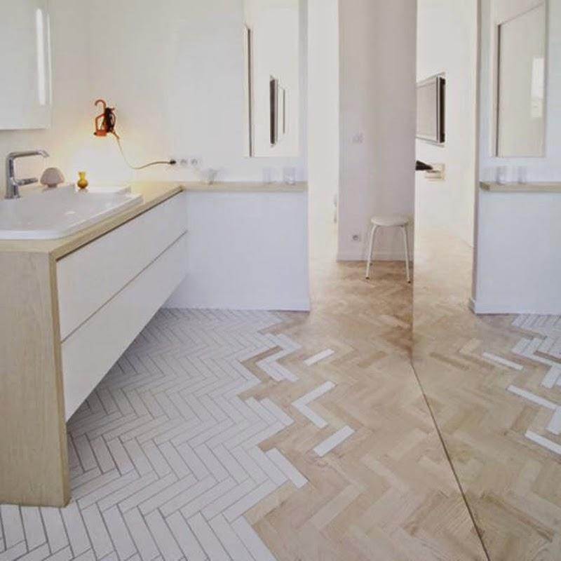 Baño Blanco Suelo Madera: madera en Asturias: Otra tendencia en decoración de suelos: madera y