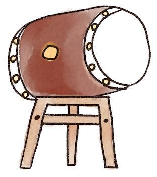 太鼓のイラスト(お祭り)
