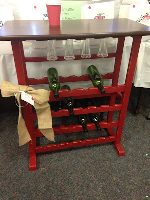 Wine Rack Java Gel Stain With Red Chalk Finish Paint