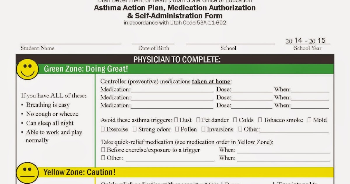 My Life As An Asthma Mom: Asthma Action Plans For School - Already
