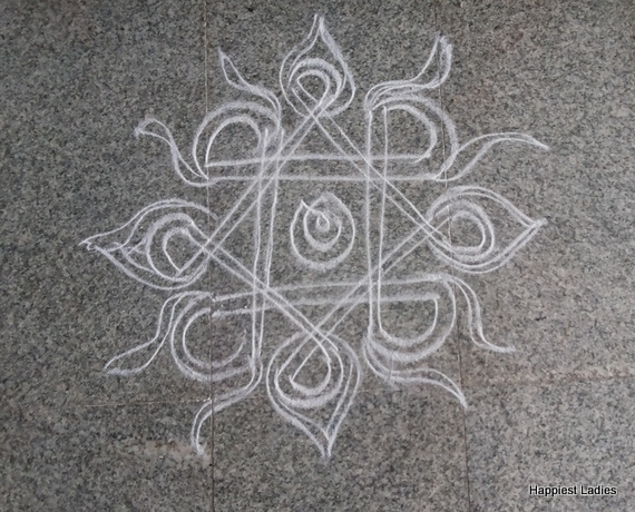 best free hand rangoli design