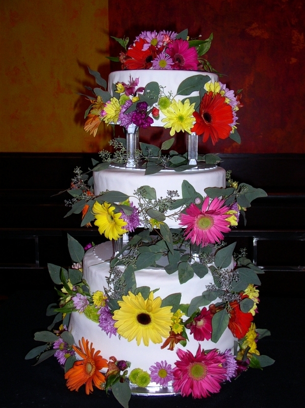 Cake Decorating Ideas Fresh Flowers : Wedding Cakes With Fresh Flowers Ideas