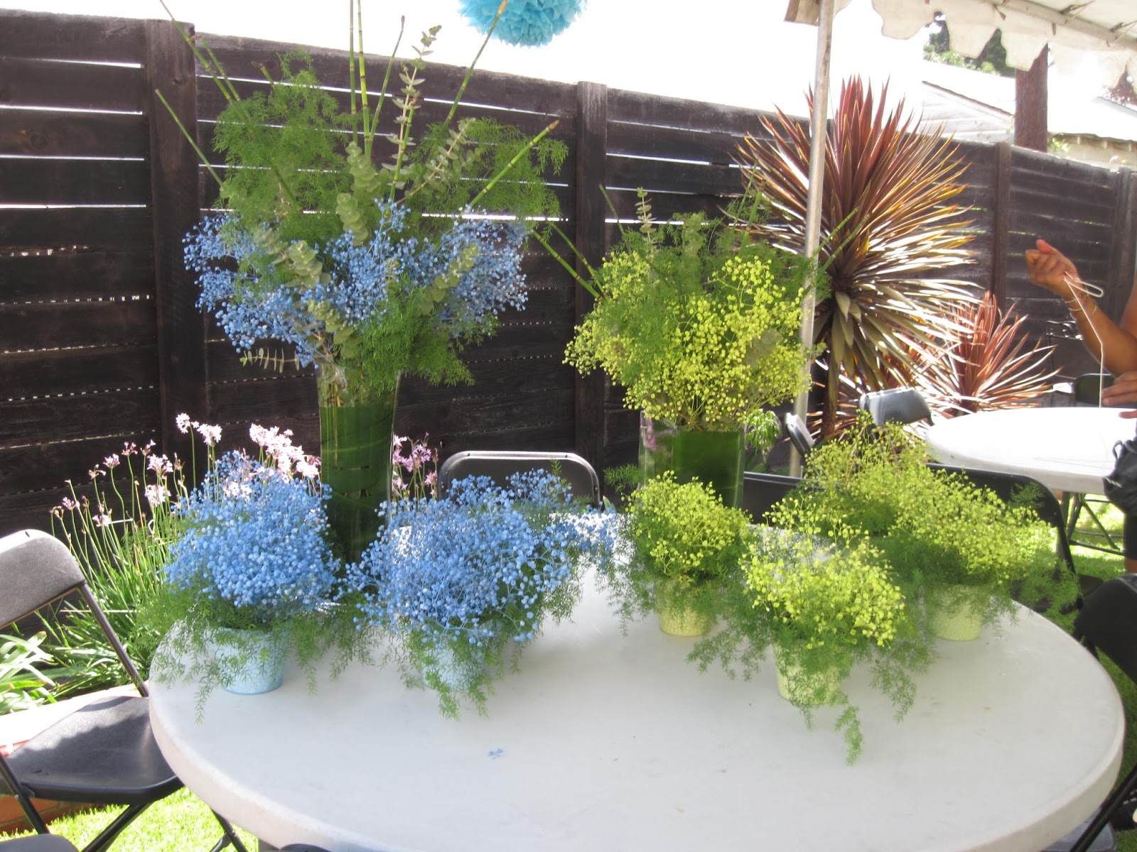 Eve4art diy baby shower decorations for Baby shower flower decoration ideas
