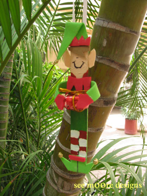 craft stick elf ornament