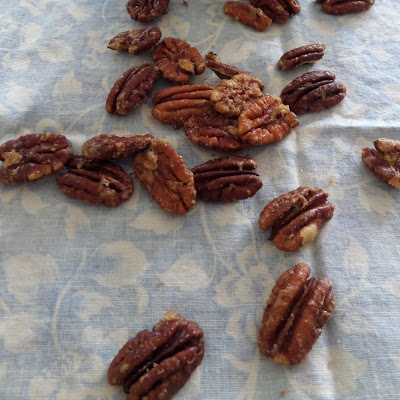 Candied Pecans:  These sweet and crunchy pecans make great salad toppers and snacks.