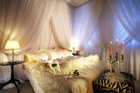 romantic bedroom candles