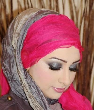 Hijab style maquillage chic