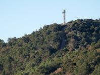 La torre de guaita a dalt d'El Fustera
