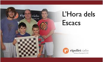 """""""L'hora dels escacs"""", a Ripollet Ràdio"""