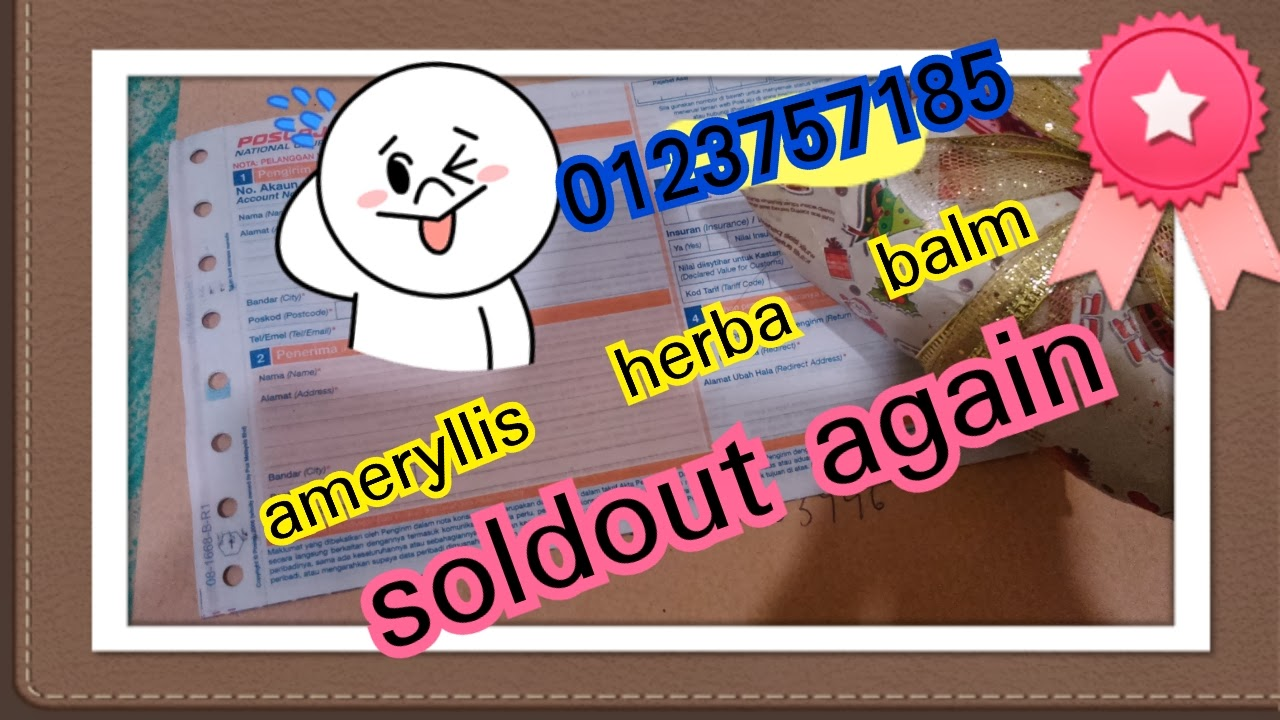 ameryllis herbal balm sold out again thanks supporter