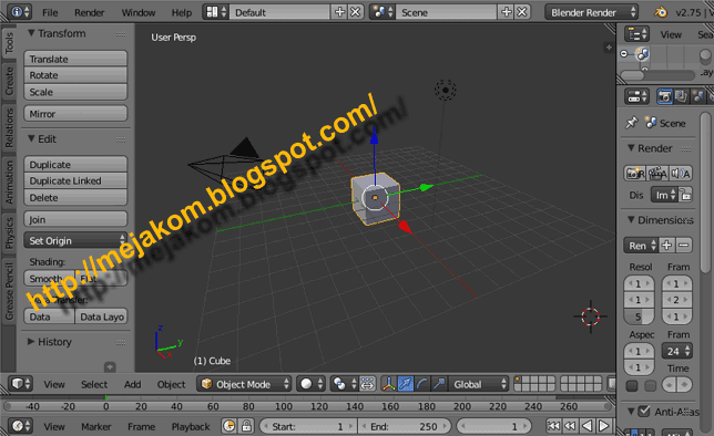 Download Aplikasi Blender 3D 2.75 Terbaru Gratis 2015