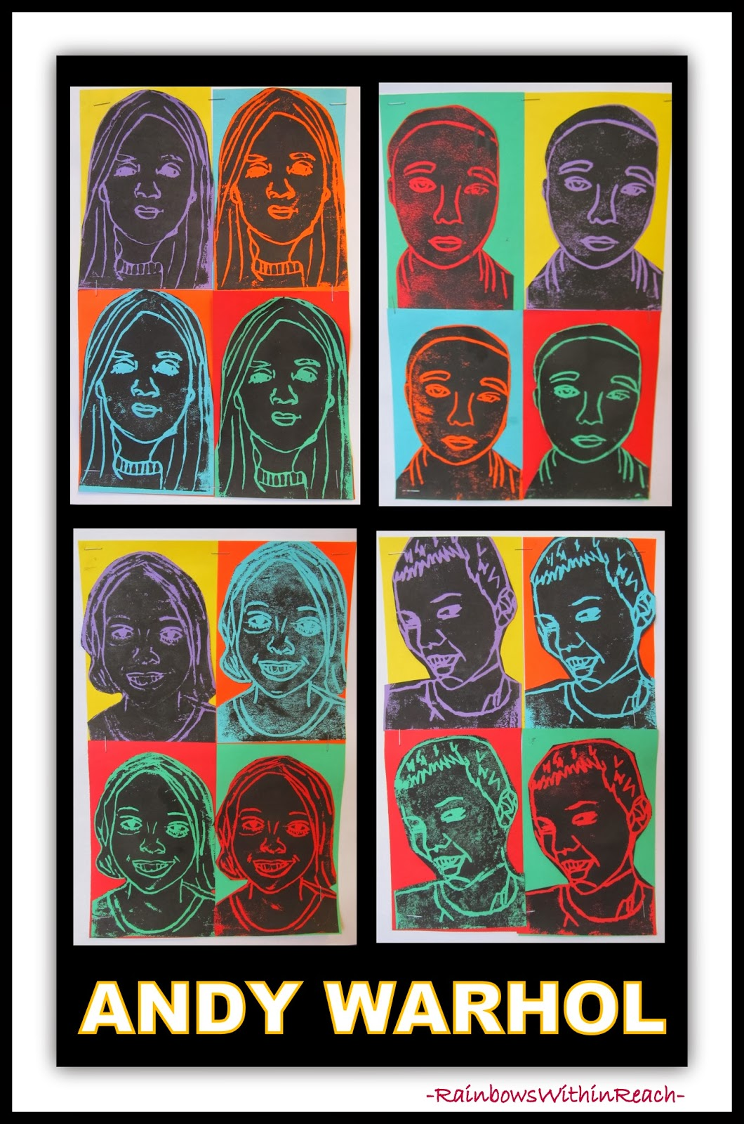 Andy Warhol Printmaking Self-Portraits at RainbowsWithinReach
