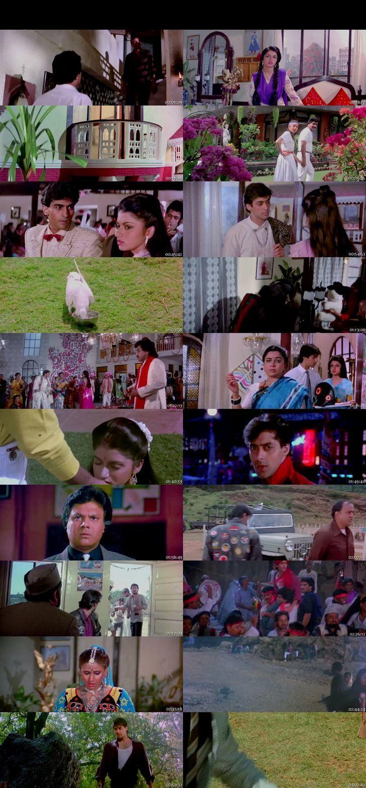 Screen Shot Of Maine Pyar Kiya 1989 300MB DVDRip 480P Full Hindi Movie Watch Online Free Download