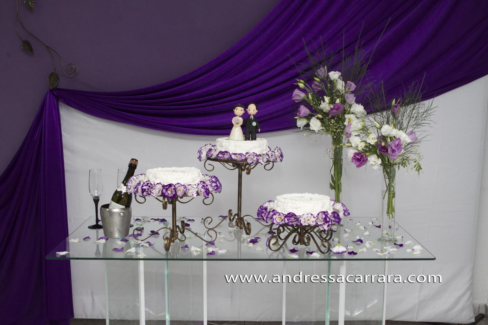 decoracao branco e lilas para casamento vida da marcela e do roque