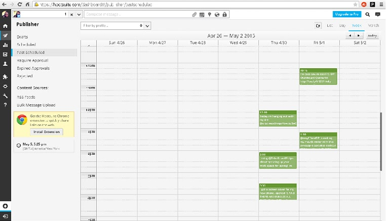 Why I Switched From Buffer To Hootsuite For Social Media Promotion - Hootsuite content calendar template