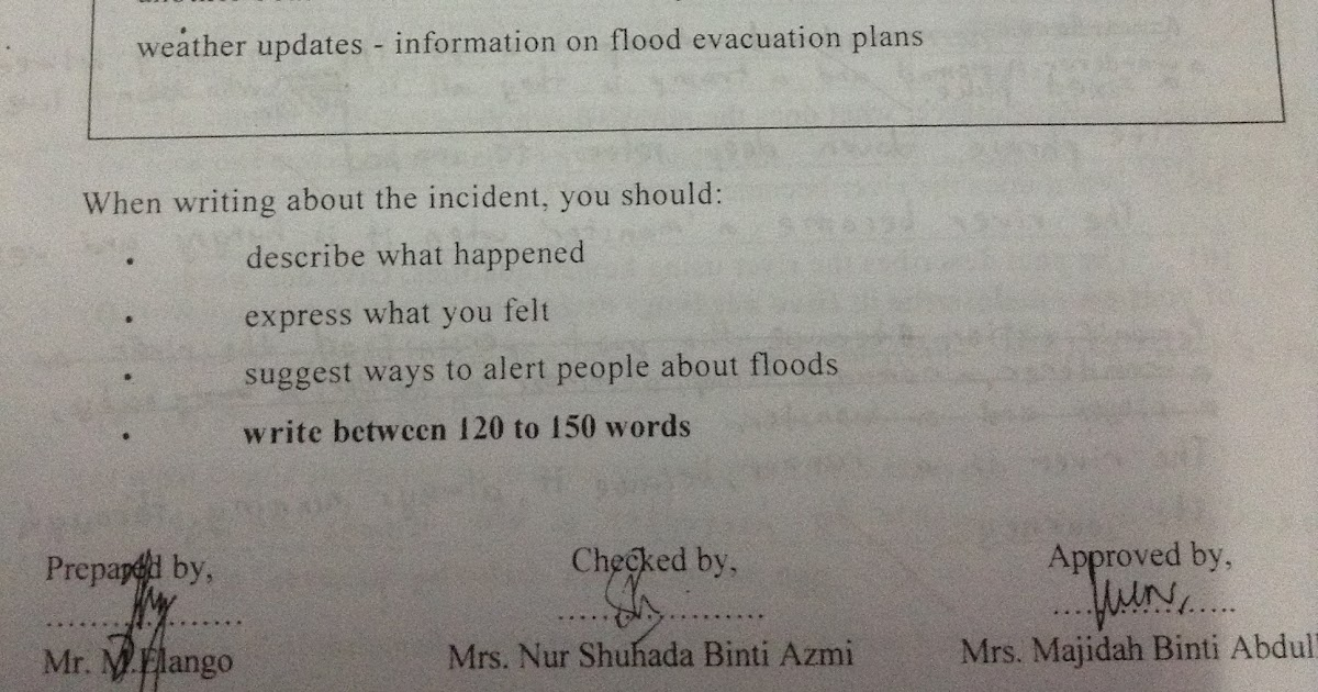 Flood essay