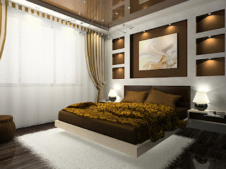 Lovely Modern Bedrooms Wall Designs