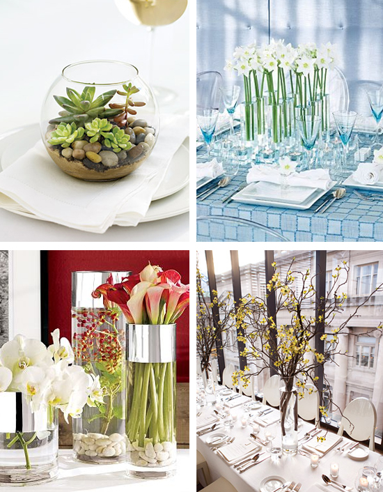 Modern Wedding Centerpieces and Ideas photo credits terrarium daffodils