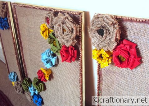 diy jute flowers tutorial spring Make the Scene Monday # 18
