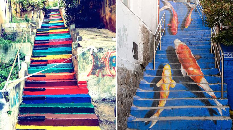 16 de las escaleras más coloridos alrededor del mundo