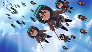 Attack on Titan Shingeki no Kyojin Mikasa Ackerman Anime Girl Chibi Sword Blade HD Wallpaper Desktop PC Background