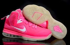 LeBron 9 Women Basketball Shoes Pink  Half Off Sneakers 2014 0460