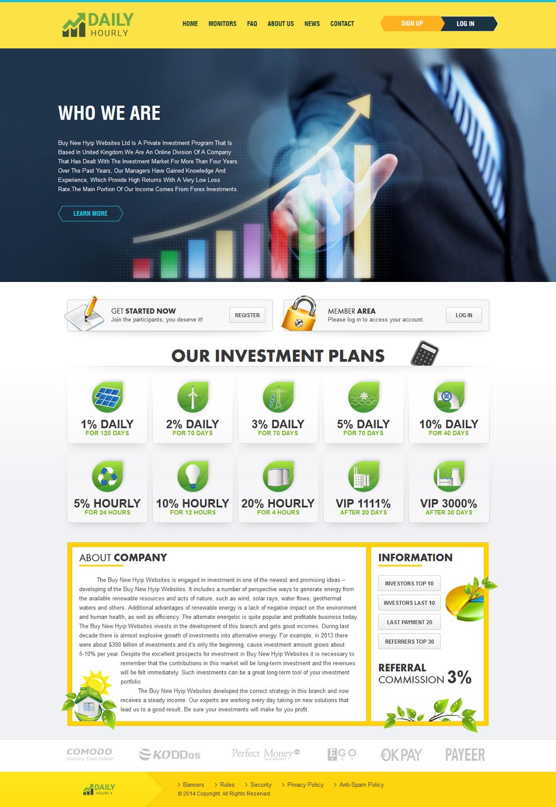 Бесплатно шаблон для hyip manager директор инвестиционный проект