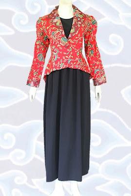 Gamis Batik Kombinasi Icewash