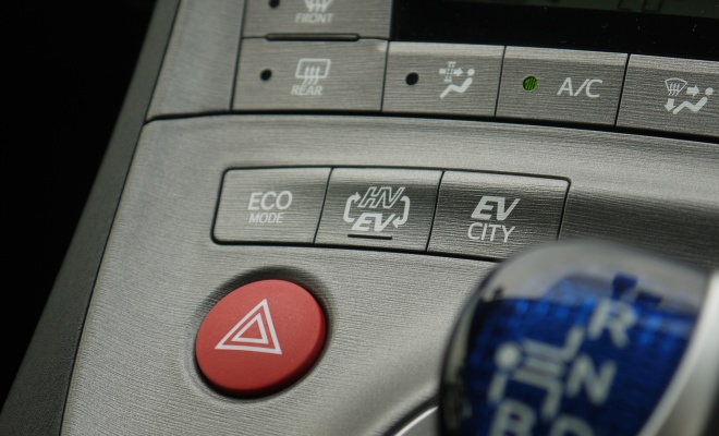 Toyota Prius Plug-in mode buttons