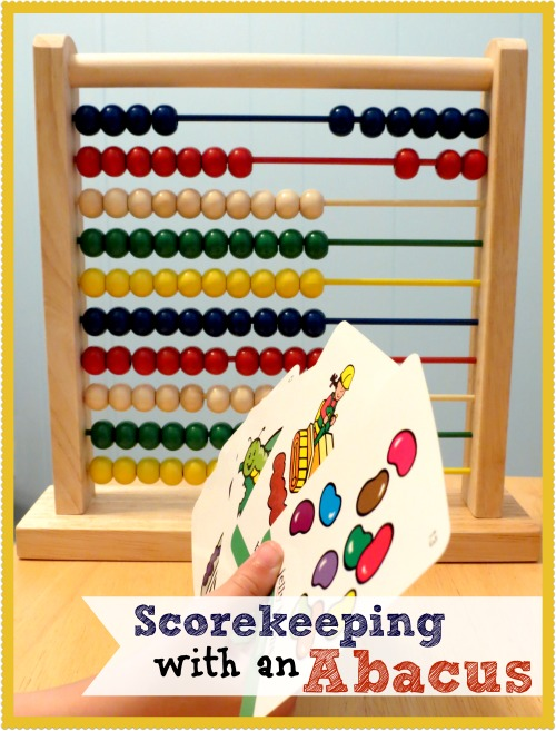 Scorekeeping with an Abacus- Get your kids to practice counting, skip-counting, addition, and subtraction without it feeling like practice!