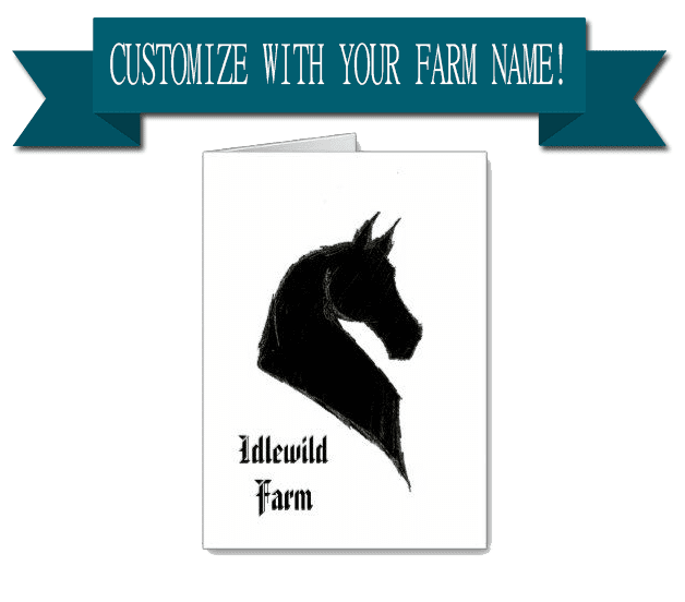 custom saddlebred note card add your farm name - saddlebred sketch