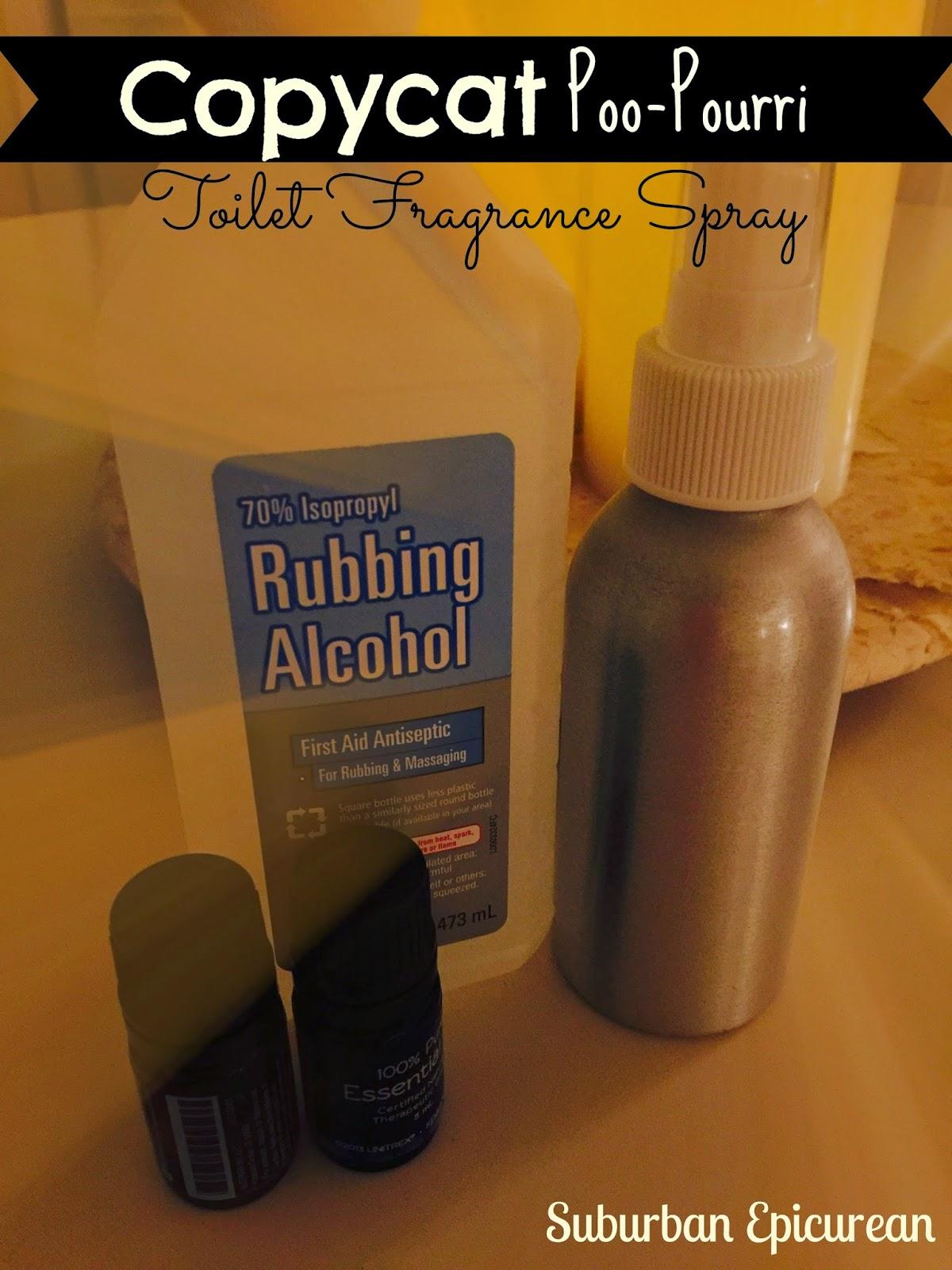 Suburban Epicurean Copycat Poo Pourri Toilet Fragrance Spray Made From Essential Oils