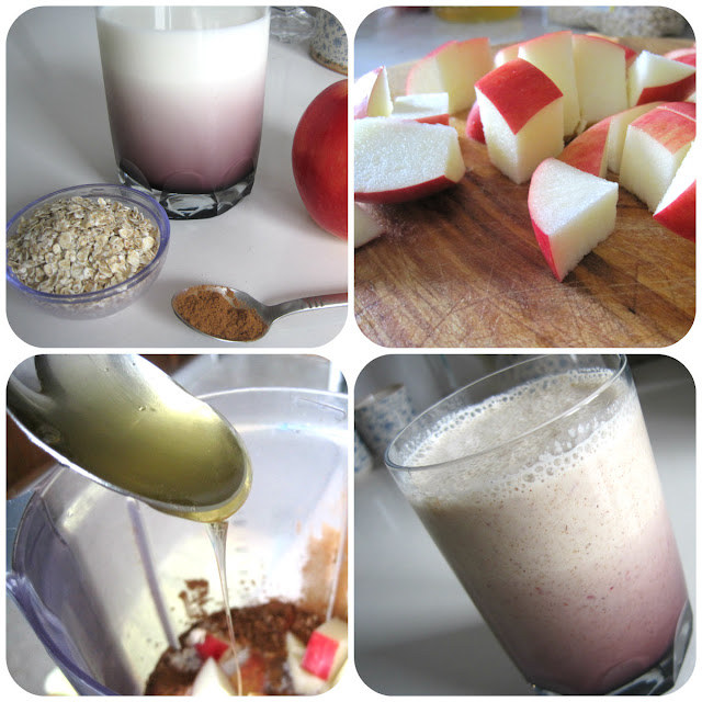 strudel smoothie, strudel shake recipe apple cinnamon oatmeal honey apple shake smoothie